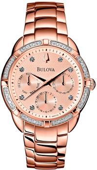 Наручные женские часы Bulova 98r178 (Коллекция Bulova Diamond)