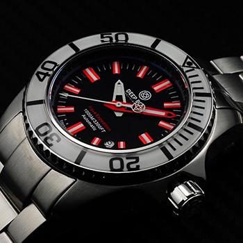 Наручные мужские часы Deep Blue Aewhtblkred