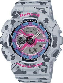 Наручные женские часы Casio Ba-110fl-8a (Коллекция Casio Baby-G)