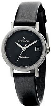 Наручные женские часы Romanson Dl9782slw(Bk) (Коллекция Romanson Titanium)