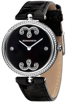Наручные женские часы Romanson Rl0363lw(Bk) (Коллекция Romanson Giselle)
